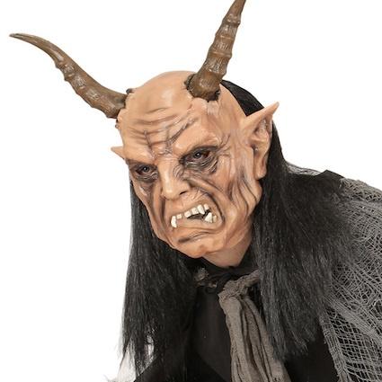 Latexová maska čert Krampus - Halloween Kostýmy a Masky d6798b18b7